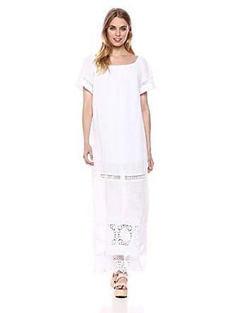 Xcvi Womens Larae Dress Cocoon Gauze Solid, White L
