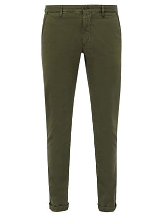 Incotex Slim Fit Stretch Cotton Chinos - Mens - Green