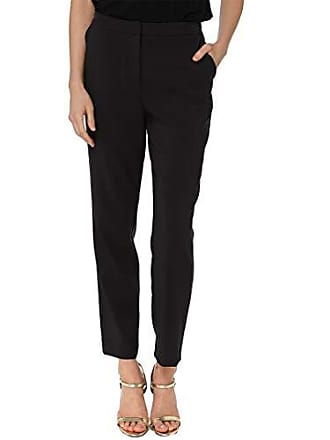 Nicole Miller Womens Tappered Ankle Pant, Black, 14