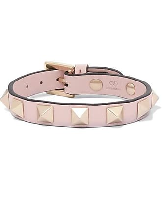 4367867a62bf Valentino Valentino Garavani The Rockstud Leather Bracelet - Pink