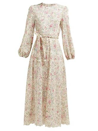 e66828052a6 Zimmermann Goldie Embroidered Floral Print Midi Dress - Womens - White