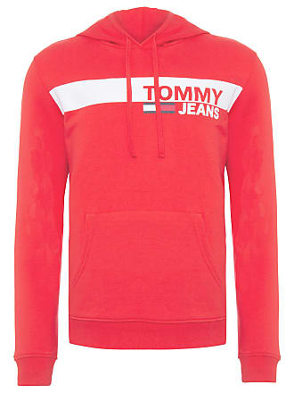 Tommy Jeans BLUSA MASCULINA ESSENTIAL GRAPHIC HOODIE - VERMELHO