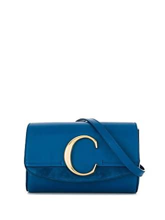 Chloé Pochete com logo - Azul