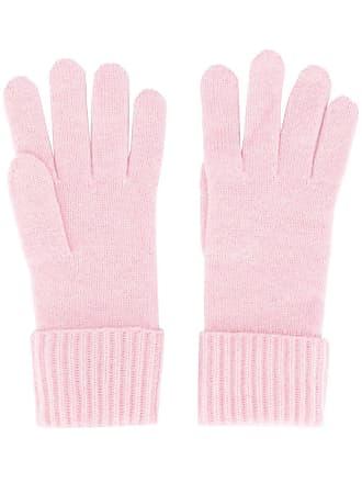 N.Peal Par de luvas de tricô caneladas - Rosa