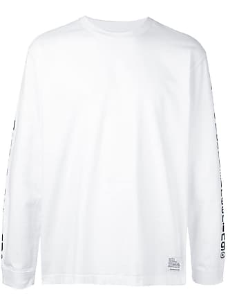 White Mountaineering Blusa mangas longas com estampa de logo - Branco