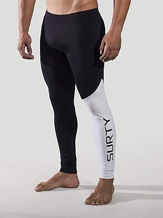 Surty Calça Legging de Compressão Masculina Surty Elite Cross Cor:Preto;Tamanho:GG