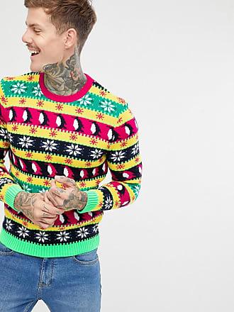 Asos Holidays sweater in festive MULTICOLOR design - Multi
