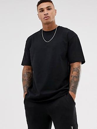 Topman Schwarzes Oversized-T-Shirt