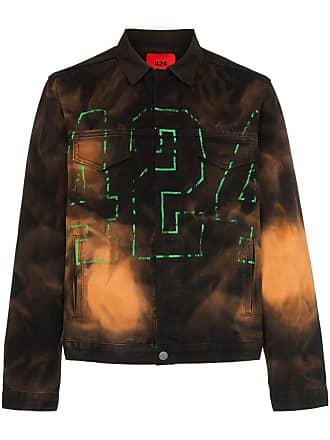 424 Jaqueta jeans com bordado de logo - Multicoloured