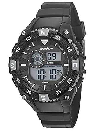 Speedo Relógio digital Speedo masculino Esportivo Preto/prata