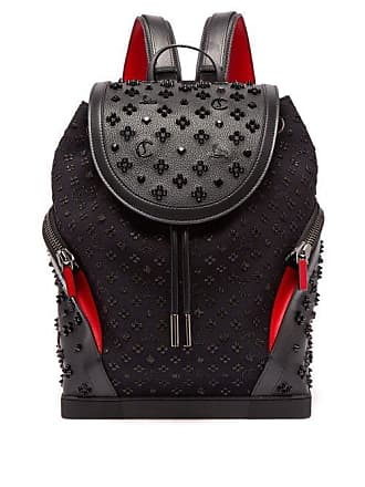 Christian Louboutin Explorafunk Studded Leather Backpack - Mens - Black