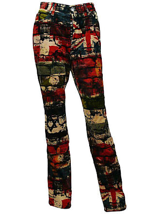 8a6b314b32 Jean Paul Gaultier Vintage Wall And Flags Print Pants Trousers