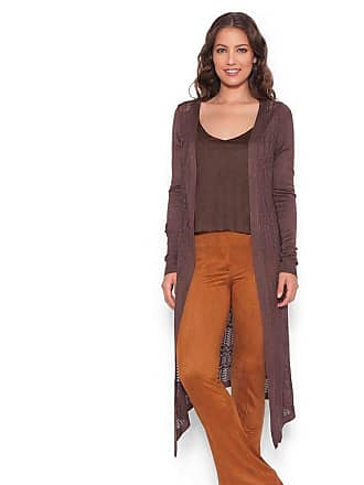 Lucy in the Sky Cardigan tricot marrom escuro M