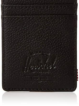 Herschel Herschel Unisexs Raven RFID Card Case Wallet, Black Pebbled Leather, One Size