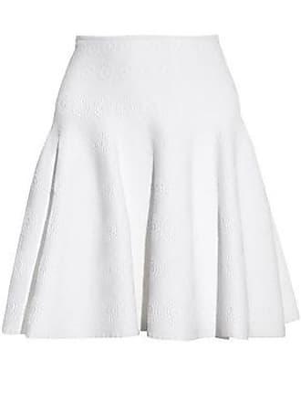 Alaia Alaïa Woman Fluted Jacquard-knit Mini Skirt White Size 44