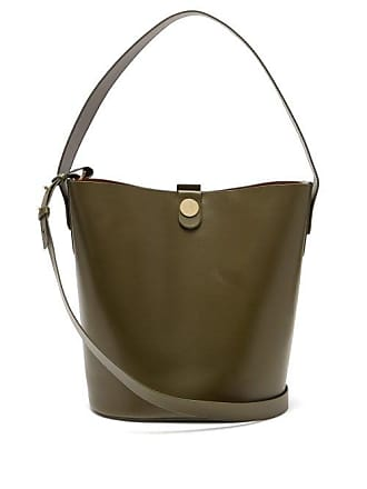 516a11f3d Sophie Hulme Swing Leather Bucket Bag - Womens - Khaki