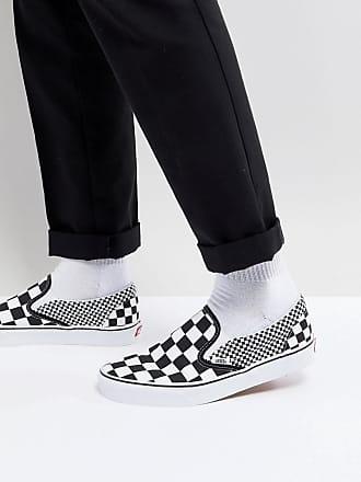 Vans Classic - VA38F7Q9B - Sneakers senza lacci nere a scacchi - Nero 00b3e8540f3