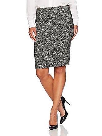 ddf50fc1aa Kasper Womens Petite Woven Jacquard Slim Skirt, Black/Ivory, 10P