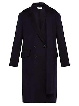 J.W.Anderson Jw Anderson - Double Breasted Brushed Wool Scarf Coat - Mens - Navy