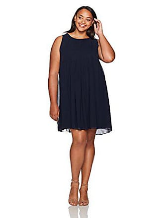 320eeb924f4 Sharagano Womens Plus Size Sleeveless Pleated Chiffon Dress