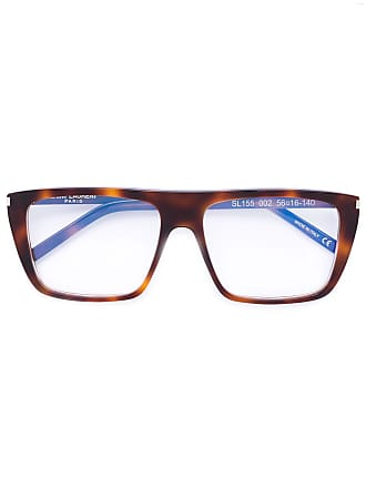 Saint Laurent Eyewear Óculos com armação quadrada - Marrom