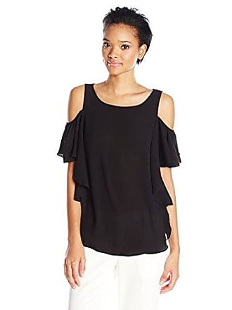 6258cd4ae5742 Max Studio Womens Poly Crepe Cold Shoulder Blouse
