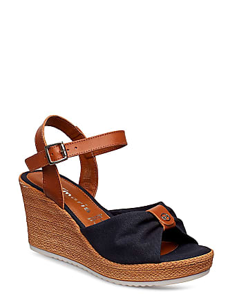 a930e647ee16 Tamaris Woms Sandals Sandalette Med Klack Espadrilles Brun TAMARIS