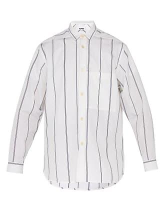 Jil Sander Sinceraff Striped Cotton Shirt - Mens - White