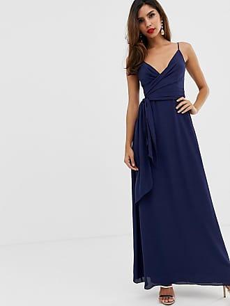 7fc702a868a Asos cami wrap maxi dress with tie waist - Navy