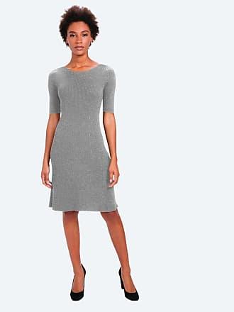 Ministry of Supply 3D Print-Knit Sweater Dress - Light Grey size XS
