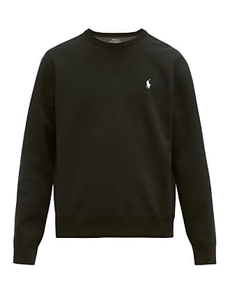 Polo Ralph Lauren Logo Embroidered Technical Fleece Sweatshirt - Mens - Black