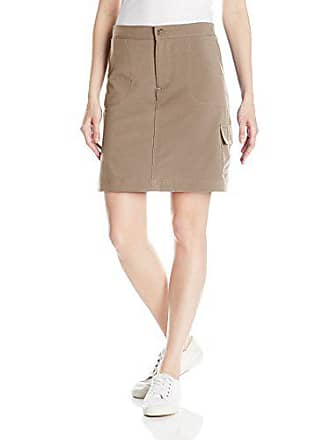 Riders by Lee Indigo Womens Performance Skort with Knit Waist, Khaki, 6