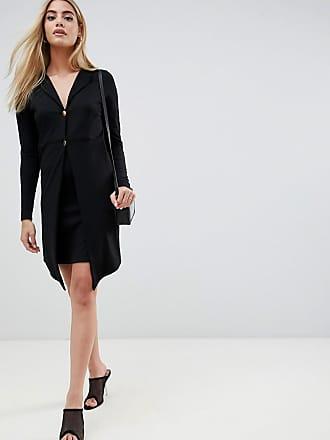 Asos mini blazer dress with gold buttons - Black