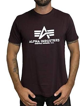 a678f4c3d24cb Alpha Industries Herren T-Shirt Basic rot 2XL