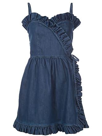 Stella McCartney denim sheer panel mini dress - Blue