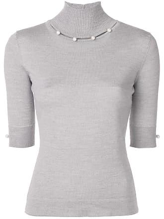 Blumarine Suéter com aplicação - Cinza