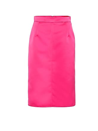 N°21 High-rise satin pencil skirt