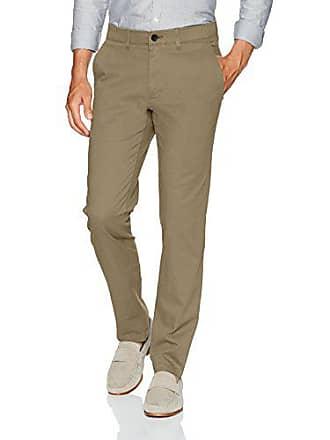 Haggar Mens Coastal Comfort Slim Fit Superflex Waist Flat Front Pant, Khaki, 32Wx30L