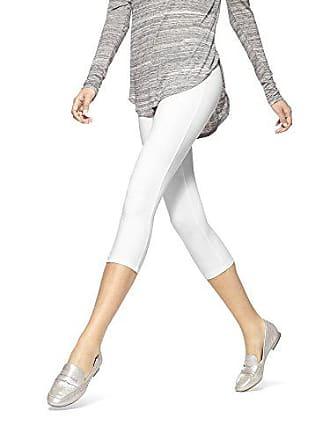 Hue Womens Temp Control Cotton Capri Leggings, White Medium