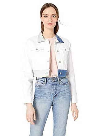 Hudson Womens Cropped Trucker Jacket, White ice, XS