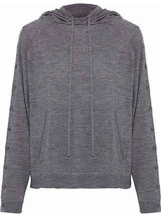 de7a26a65 Robert Rodriguez Robert Rodriguez Woman Button-detailed Wool Hooded Sweater  Gray Size M