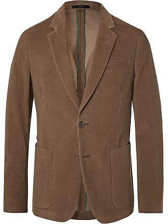 Paul Smith Olive Slim-fit Cotton-corduroy Suit Jacket - Brown
