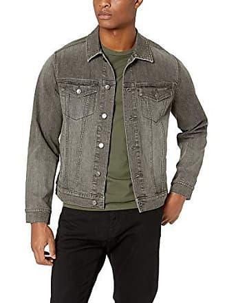 Amazon Essentials Mens Denim Trucker Jacket, Grey Wash, X-Large
