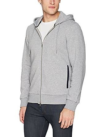 Theory Mens Fleece Front Zip Hoodie, Pebble Melange, S