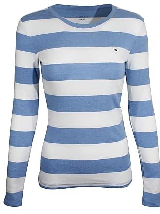 c384b194ff2 Tommy Hilfiger Womens Long Sleeve Solid Crewneck T-Shirt (Small, Light Blue/