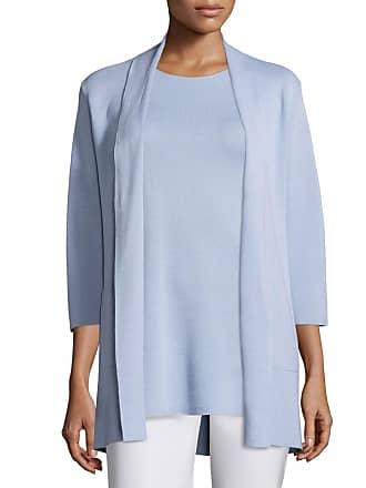 Eileen Fisher 3/4-Sleeve Silk/Organic-Cotton Jacket, Delfina