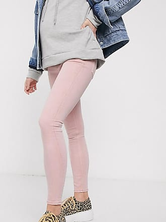 Asos Maternity ASOS DESIGN Maternity Ridley High waist Skinny jeans in Rose with elasticated side waist band-Red