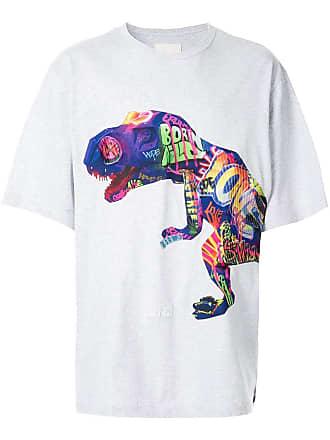 Juun.J dinosaur T-shirt - Cinza