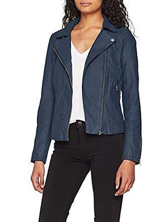 Only Onlsaga Faux Leather Biker CC OTW, Blouson Femme, Bleu (Insignia Blue  Insignia accbb4ee1ab8