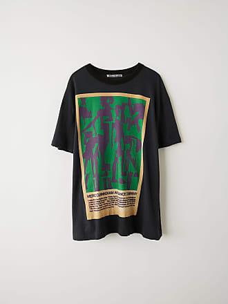 3f4c04d487b Acne Studios FN-WN-TSHI000129 Noir délavé T-shirt imprimé